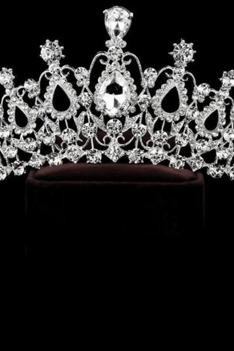 Classic Queen Top Crystal Tiaras Crowns for Women Fashion Hair Jewelry for Brides Shine Full of pure Wedding Accessories