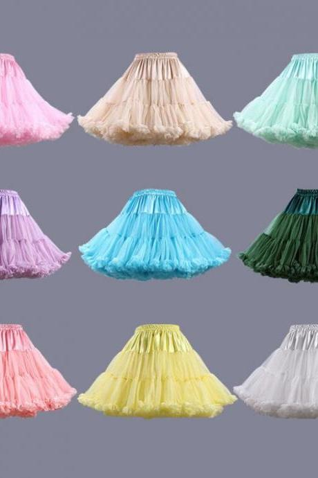Hot Selling Women Multi Color Petticoat For Wedding Dress Women Underskirt Tulle Short Under Dress In Stock Cheap Short Skirt