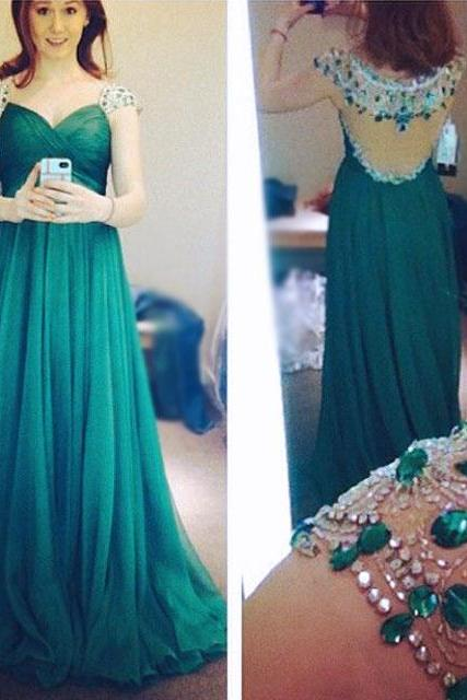 Elegant Prom Dresses,Sequined Prom Dresses,A-Line Prom Dresses,V-Neck Prom Dresses,Long Prom Dresses,Green Prom Dresses,Evening Gowns