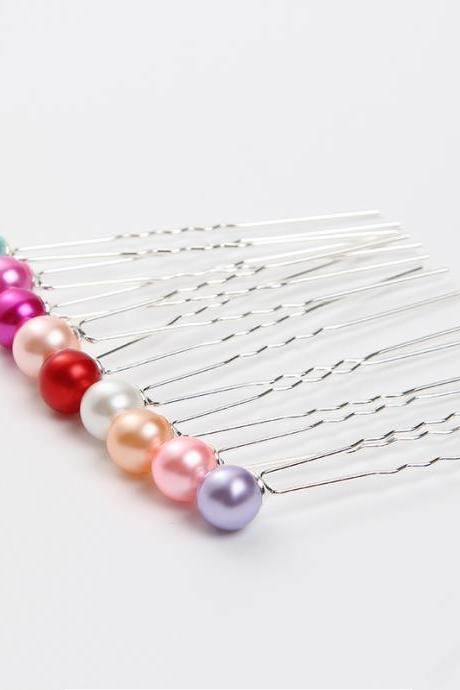 Bridal Hair Disk Hair Jewelry Pearl Hairpin U-shaped Clip Hairpin Women Pins Wedding Hair Accessories