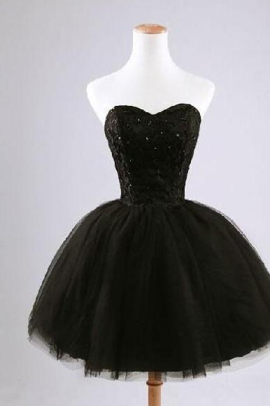 2017 new arrival elegant fashion princess sweetheart beads sequins fashion women black prom dress special occasion dresses cocktail gowns